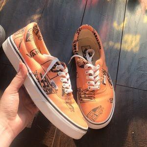Vans Authentic Orange Logo shoe